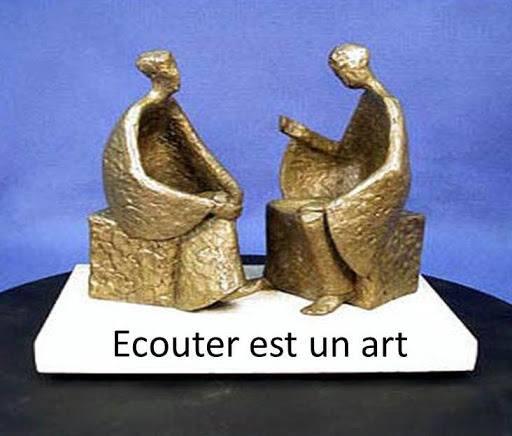 Michel blogue avec Maria/Sujet/Écoute du coeur/Ou/ l'écoute à trois dimensions/ Bronzeec